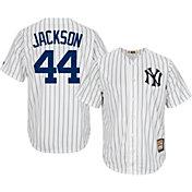 Majestic Men's Replica New York Yankees Reggie Jackson Cool Base White Cooperstown Jersey