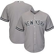 Majestic Men's Replica New York Yankees Cool Base Road Grey Jersey