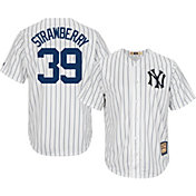 Majestic Men's Replica New York Yankees Darryl Strawberry Cool Base White Cooperstown Jersey