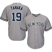 Majestic Men's Replica New York Yankees Masahiro Tanaka #19 Cool Base Road Grey Jersey