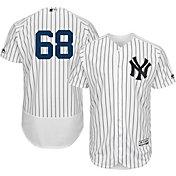 Majestic Men's Authentic New York Yankees Dellin Betances #68 Home White Flex Base On-Field Jersey