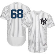 Majestic Men's Authentic New York Yankees Dellin Betances #68 Home White Flex Base On-Field Jersey