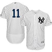 Majestic Men's Authentic New York Yankees Brett Gardner #11 Home White Flex Base On-Field Jersey