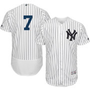Majestic Men's Authentic New York Yankees Mickey Mantle #7 Home White Flex Base On-Field Jersey