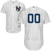 Majestic Men's Custom Authentic New York Yankees Flex Base Home White On-Field Jersey