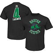 Majestic Men's Boston Celtics Isaiah Thomas #4 Black T-Shirt