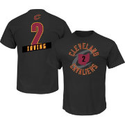Majestic Men's Cleveland Cavaliers Kyrie Irving #2 Black T-Shirt