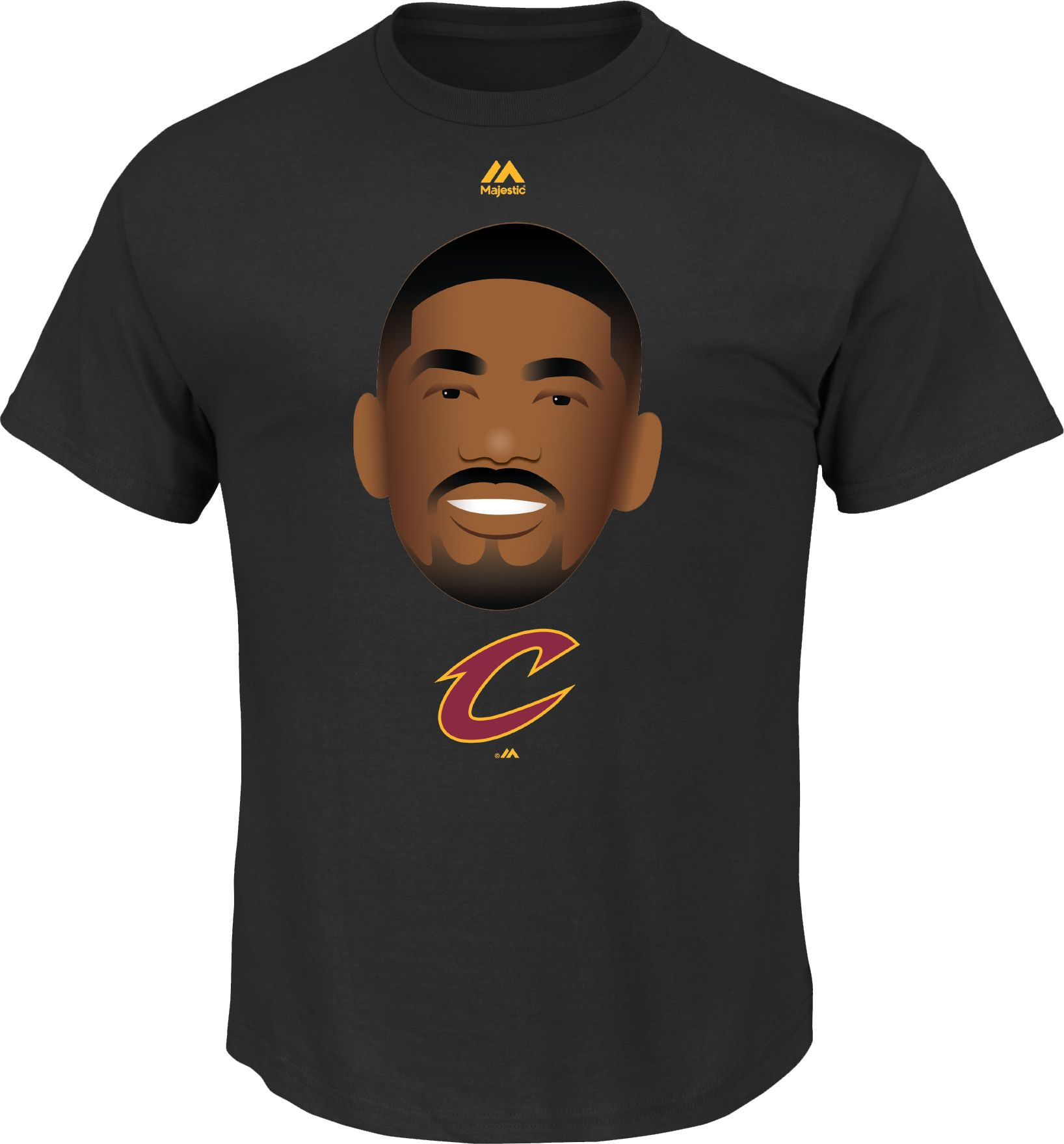 Cavs black t shirt jersey - Majestic Men S Cleveland Cavaliers Kyrie Irving Emoji Black T Shirt