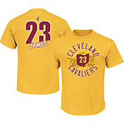 Majestic Men's Cleveland Cavaliers LeBron James #23 Gold T-Shirt