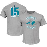 Majestic Men's Charlotte Hornets Kemba Walker #15 Grey T-Shirt
