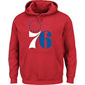 Majestic Men's Philadelphia 76ers Hardwood Classic 1963-77 Logo Red Hoodie