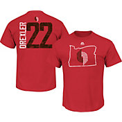 Majestic Men's Portland Trail Blazers Clyde Drexler #22 Red T-Shirt