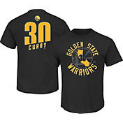 Majestic Men's Golden State Warriors Steph Curry #30 Black T-Shirt