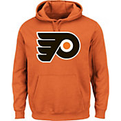 Majestic Men's Philadelphia Flyers Vintage Tek Patch Orange Hoodie