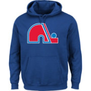 Majestic Men's Quebec Nordiques Vintage Tek Patch Navy Hoodie