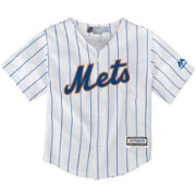 Majestic Toddler Replica New York Mets Cool Base Home White Jersey