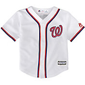 Majestic Toddler Replica Washington Nationals Cool Base Home White Jersey