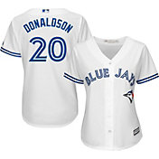Majestic Women's Replica Toronto Blue Jays Josh Donaldson #20 Cool Base Home White Jersey