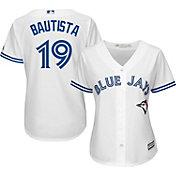 Majestic Women's Replica Toronto Blue Jays Jose Bautista #19 Cool Base Home White Jersey