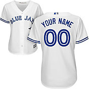Majestic Women's Custom Cool Base Replica Toronto Blue Jays Home White Jersey