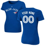 Majestic Women's Custom Toronto Blue Jays Royal T-Shirt