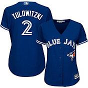 Majestic Women's Replica Toronto Blue Jays Troy Tulowitzki #2 Cool Base Alternate Royal Jersey