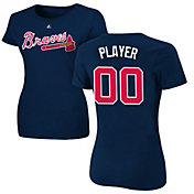 Majestic Women's Full Roster Atlanta Braves Navy T-Shirt