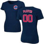 Majestic Women's Full Roster Chicago Cubs Navy T-Shirt