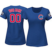 Majestic Women's Full Roster 2016 World Series Champions Chicago Cubs Royal T-Shirt
