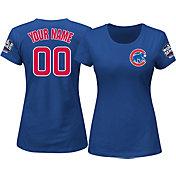 Majestic Women's Custom 2016 World Series Champions Chicago Cubs Royal T-Shirt