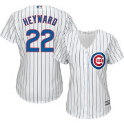 Majestic Women's Replica Chicago Cubs Jason Heyward #22 Cool Base Home White Jersey