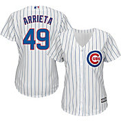 Majestic Women's Replica Chicago Cubs Jake Arrieta #49 Cool Base Home White Jersey
