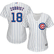 Majestic Women's Replica Chicago Cubs Ben Zobrist #18 Cool Base Home White Jersey