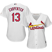 Majestic Women's Replica St. Louis Cardinals Matt Carpenter #13 Cool Base Home White Jersey