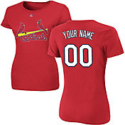 Majestic Women's Custom St. Louis Cardinals Red T-Shirt