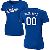 Majestic Women's Custom Los Angeles Dodgers Royal T-Shirt
