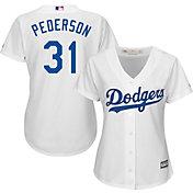 Majestic Women's Replica Los Angeles Dodgers Joc Pederson #65 Cool Base Home White Jersey