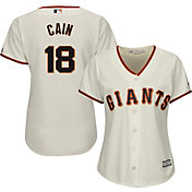 Majestic Women's Replica San Francisco Giants Matt Cain #18 Cool Base Home Ivory Jersey