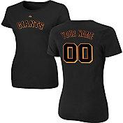 Majestic Women's Custom San Francisco Giants Black T-Shirt