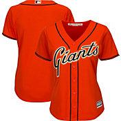 Majestic Women's Replica San Francisco Giants Cool Base Alternate Orange Jersey