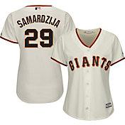 Majestic Women's Replica San Francisco Giants Jeff Samardzija #29 Cool Base Home Ivory Jersey