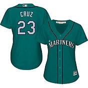 Majestic Women's Replica Seattle Mariners Nelson Cruz #23 Cool Base Alternate Teal Jersey