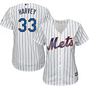Majestic Women's Replica New York Mets Matt Harvey #33 Cool Base Home White Jersey