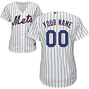Majestic Women's Custom Cool Base Replica New York Mets Home White Jersey