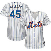 Majestic Women's Replica New York Mets Zack Wheeler #45 Cool Base Home White Jersey