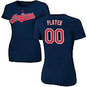 Majestic Women's Full Roster Cleveland Indians Navy T-Shirt