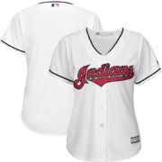 Majestic Women's Replica Cleveland Indians Cool Base Home White Jersey