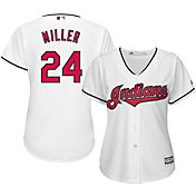 Majestic Women's Replica Cleveland Indians Andrew Miller #24 Cool Base Home White Jersey