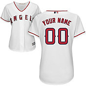 Majestic Women's Custom Cool Base Replica Los Angeles Angels Home White Jersey