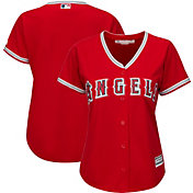 Majestic Women's Replica Los Angeles Angels Cool Base Alternate Red Jersey